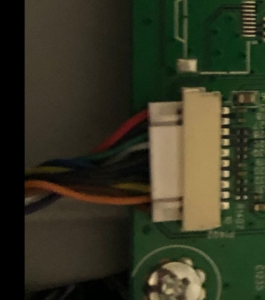 Bottom left side plug on main board