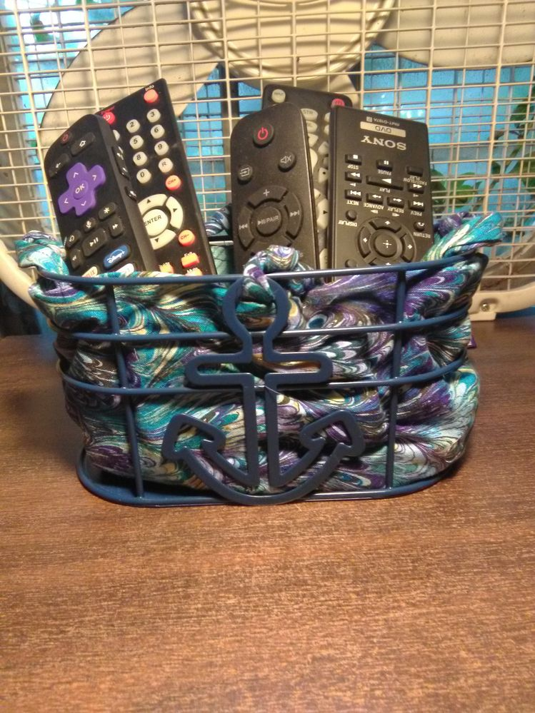 My own sewn up Caddy to keep all those remotes more organized and at hand