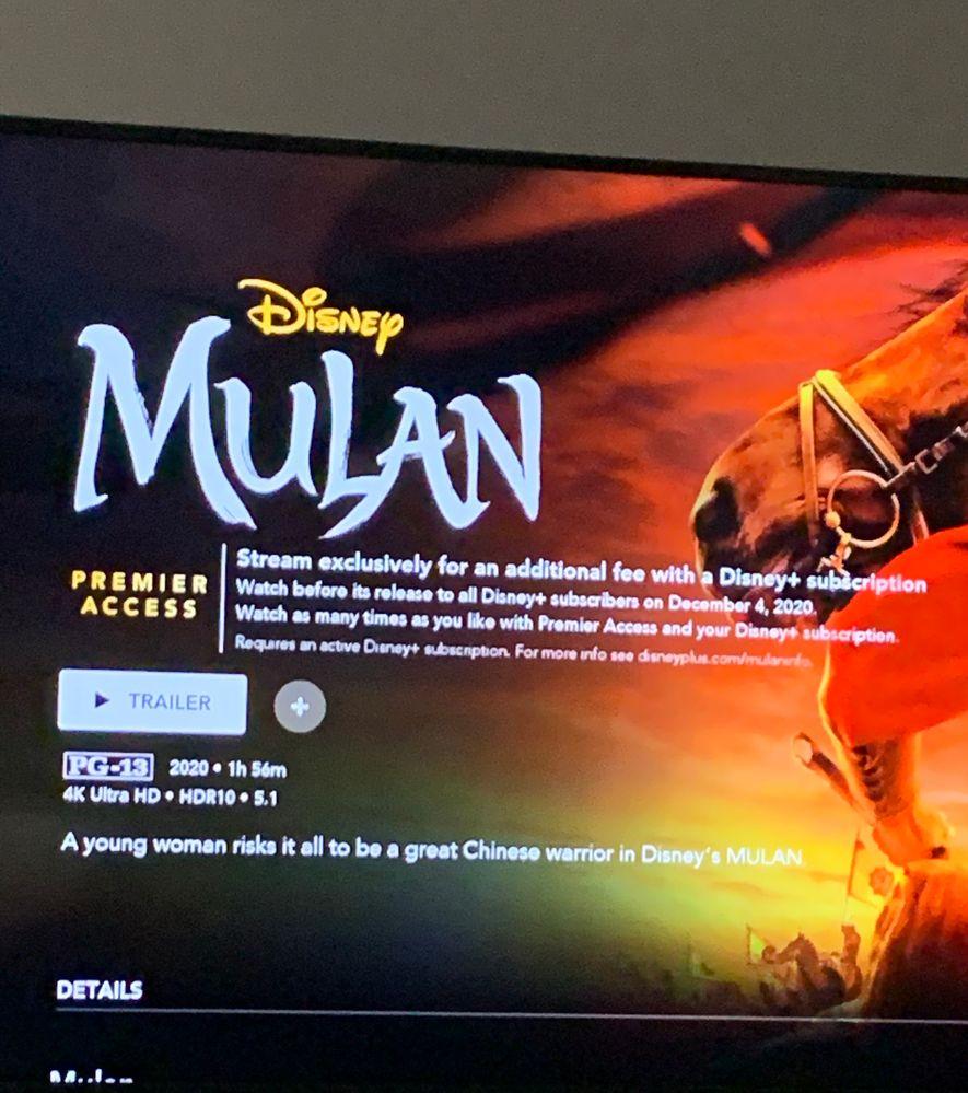 Solved: Disney Premier Access (Mulan) won't activate ...