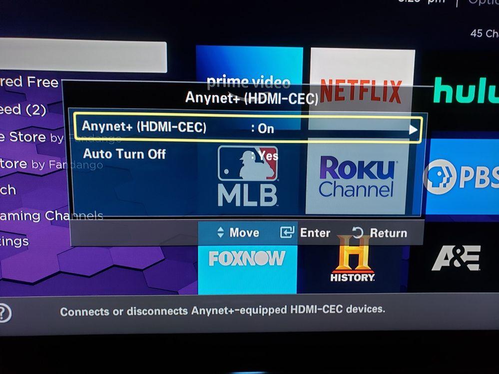 HDMI CEC setting