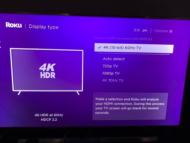 Here are my settings on Roku 4 model X4400. Clearly states 4K HDR.