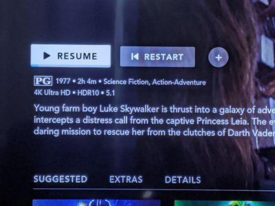 Disney+ on Samsung TV app